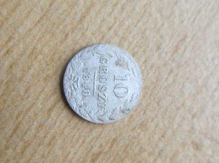 10 groszy , Lenkija , 1840 sidabras
