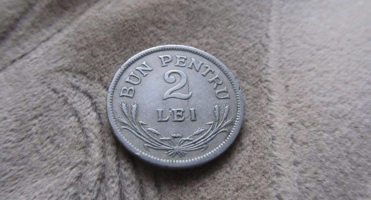 2 lei , Rumunija , 1924