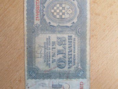 100 kuna , Kroatija , 1941
