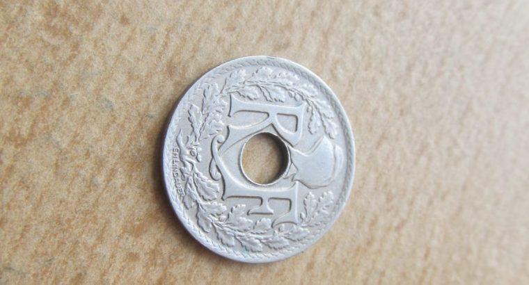 25 centimes , Prancūzija , 1922