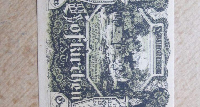 Notgeldas 80 heller , 1921 unc