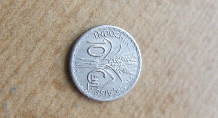 10 cent , Prancūzijos Indokinija , 1941 .