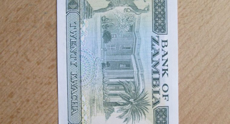20 kwacha , Zambija , 1989 unc