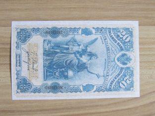 20 markkaa , Suomija , 1898