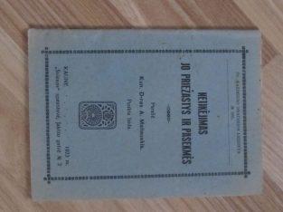 NETIKĖJIMAS JO PRIEŽASTYS IR PASEKMĖS , 1923