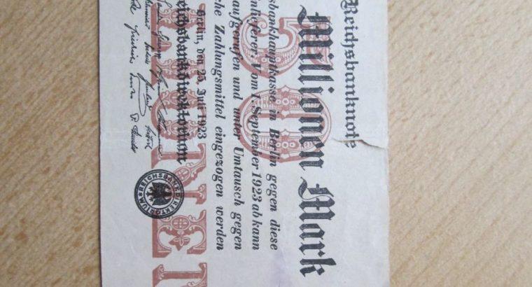 50 milijonu markiu , Vokietija , 1923 ilgas