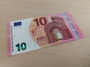 10 eur necirkuliaves apyvartoje unc banknotas