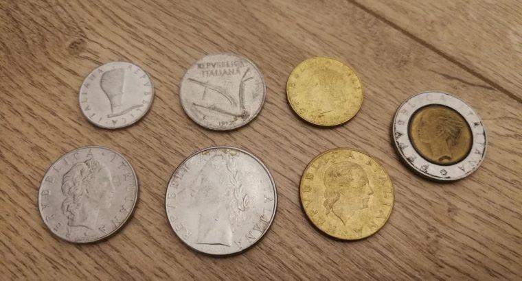 Italijos liru monetu kolekcija