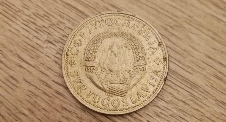 5 Jugoslavijos dinaru moneta 1972 metu