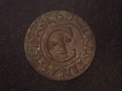 Švedijos karalienės Kristinos (1632-1654) Rygos šilingas