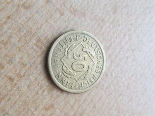 50 rentenpfennig , Vokietija , 1924 A retoka