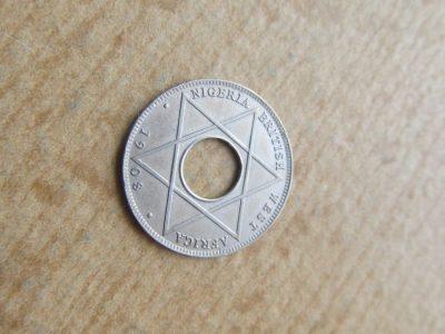 1/10 penny , Nigerija Britų Vakaru Afrika , 1908