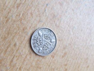 3 pence , Anglija , 1935 sidabras