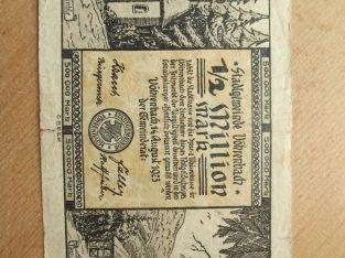 500000 mark , Vohrenbach Vokietija , 1923 didelis