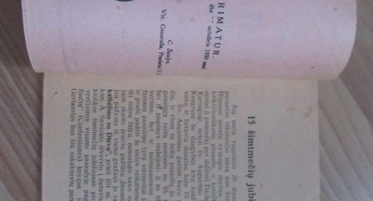 ŠVENTASIS AUGUSTINAS , KAUNAS , 1930