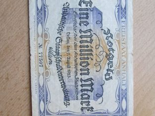 1 milijonas mark , Desau Vokietija , 1923