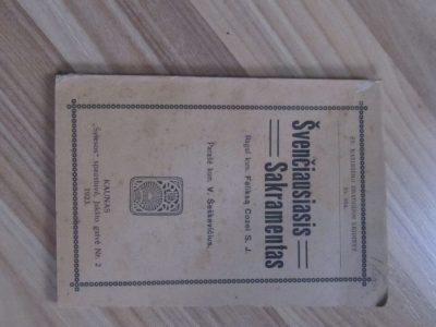 ŠVENČIAUSIAS SAKRAMENTAS , KAUNAS , 1923
