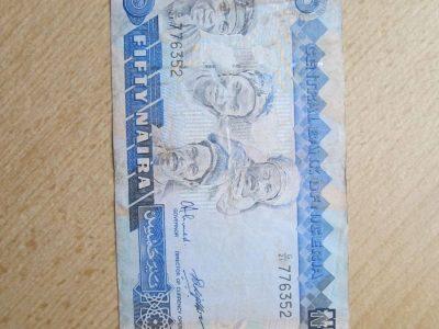50 naira , Nigerija , 1991
