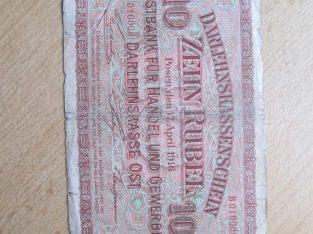 10 ost rubliu , Lietuva , 1916