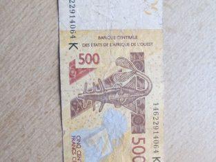 500 francs , Centrinė Afrika , 2012