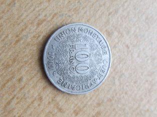 100 francs , Vakarų Afrikos valstybės , 1969