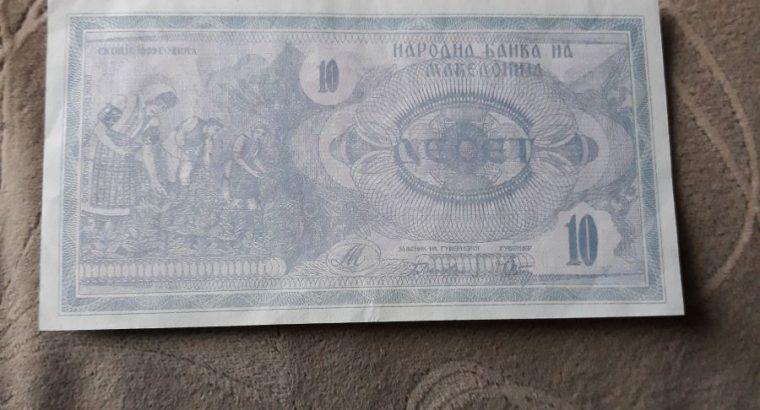 10 dinaru , Makedonija , 1992