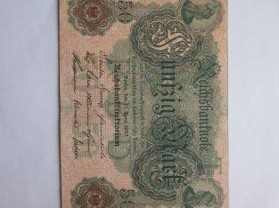 50 mark , Vokietija , 1910