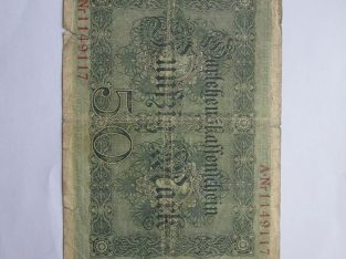 50 mark , Vokietija , 1914