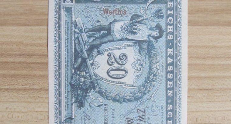 20 mark , Vokietija , 1874