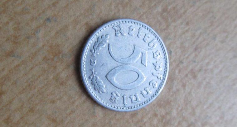 50 reichspfennig , Vokietija , 1935 D