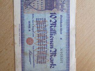 10 milijonu markiu , Kelnas Vokietija , 1923