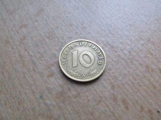 10 reichspfennig , Vokietija , 1938 A