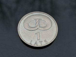 Progine vieno lato moneta 1 lats 2005 su riestainiu