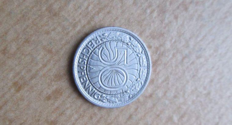 50 reichspfennig , Vokietija , 1931 A