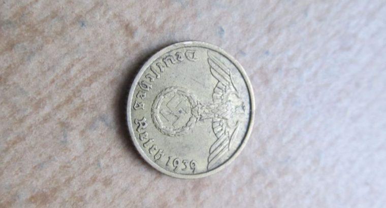 5 reichspfennig , Vokietija , 1939 A
