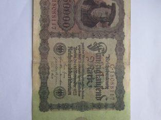 50000 mark , Vokietija , 1922
