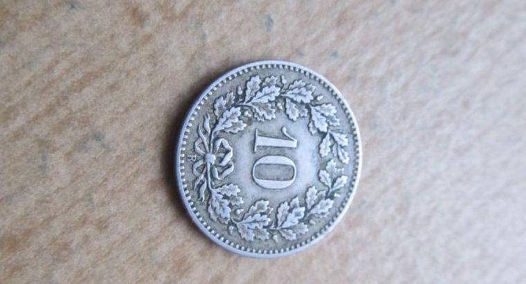 10 rapen , Šveicarija , 1881