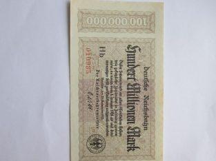 100 milijonu markiu , Vokietija , 1923