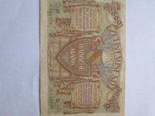 10000 mark , Manheimas Vokietija , 1923