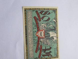Notgeldas 80 pfennig , Vokietija , 1921