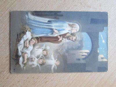 Senas atvirukas , kudikėlis , angeliukai