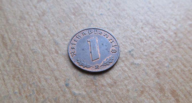 1 reichspfennig , Vokietija , 1939 E
