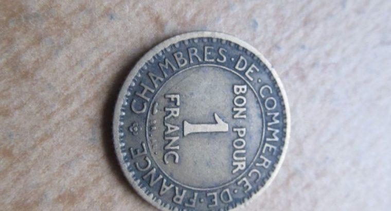 1 franc , Prancūzija , 1921