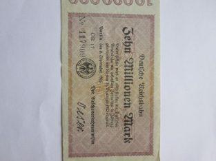 10 milijonu markiu , Vokietija , 1923
