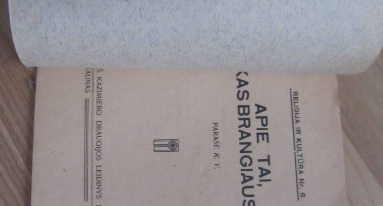 APIE TAI, KAS BRANGIAUSIA , KAUNAS , 1927