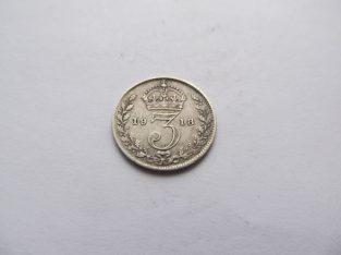 3 pence , Anglija , 1918 sidabras