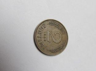 2 santimi , Latvija , 1939