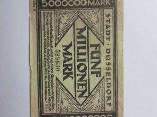 5 milijonai markiu , Diuseldorfas Vokietija , 1923