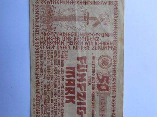 50 mark , Steinburg Vokietija , 1918