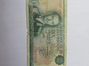 10 francs , Liuksemburgas , 1967